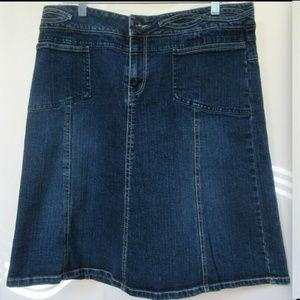 CANYON RIVER BLUES Denim Skirt Front Pockets SzL